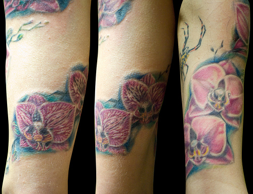 tattoo orchidée 3