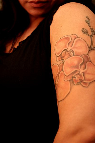 tattoo orchidée 4